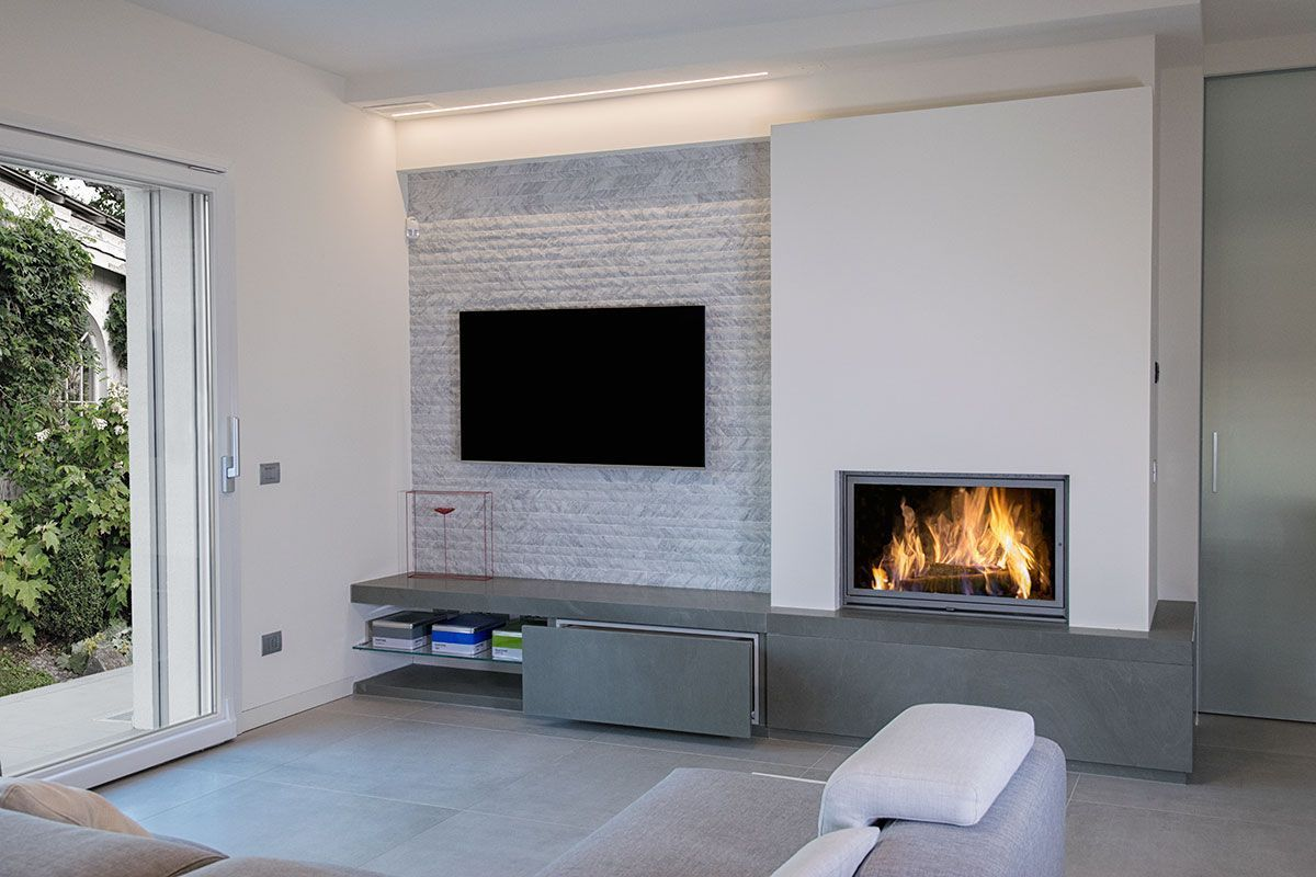Cheminee Tv Cheminee Deco En 2019 Home Fireplace Living Room