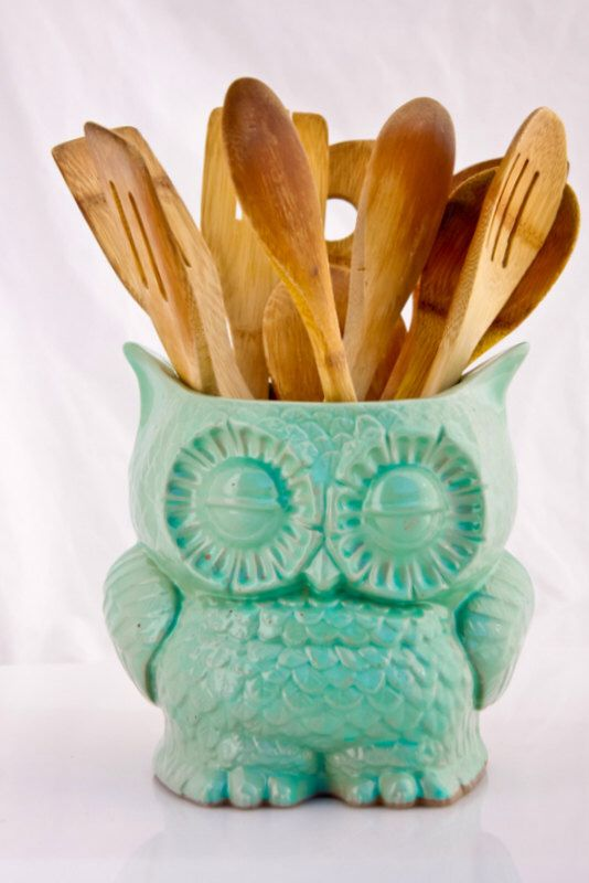 Large Kitchen Utensil Holder Ceramic Owl By Claylicious On Etsy Https://www.