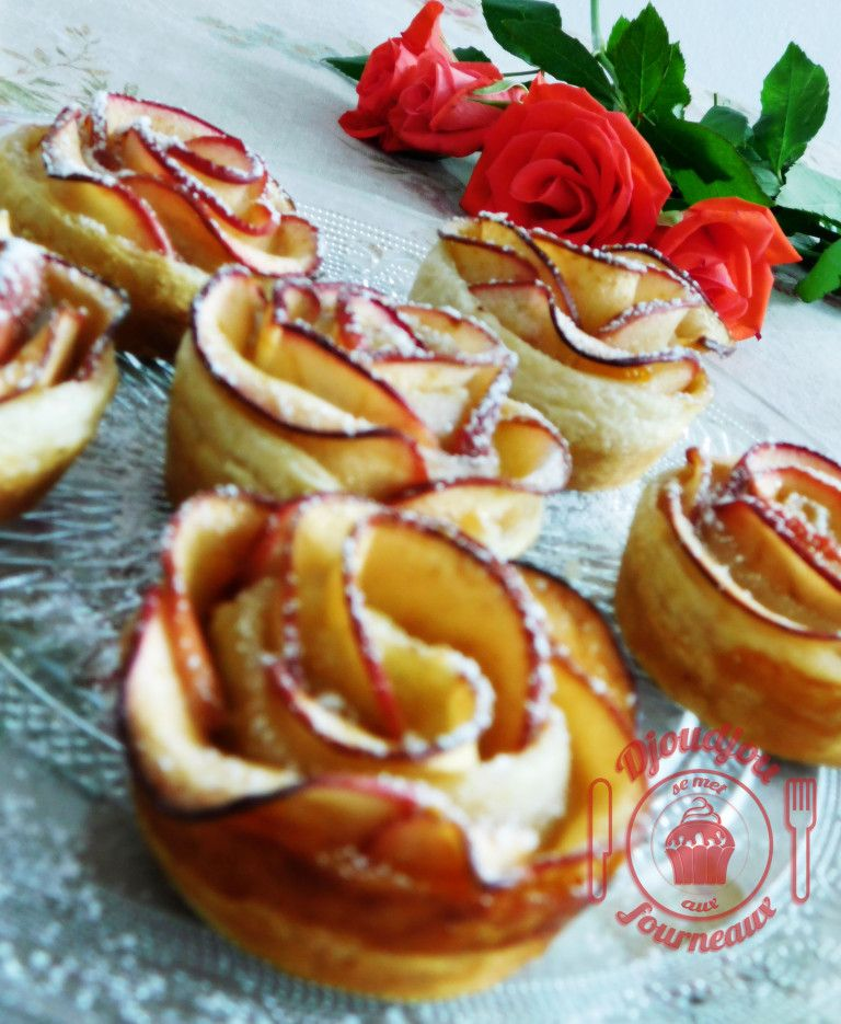 Roses feuilletées aux pommes: recette facile et rapide #dessertfacileetrapide