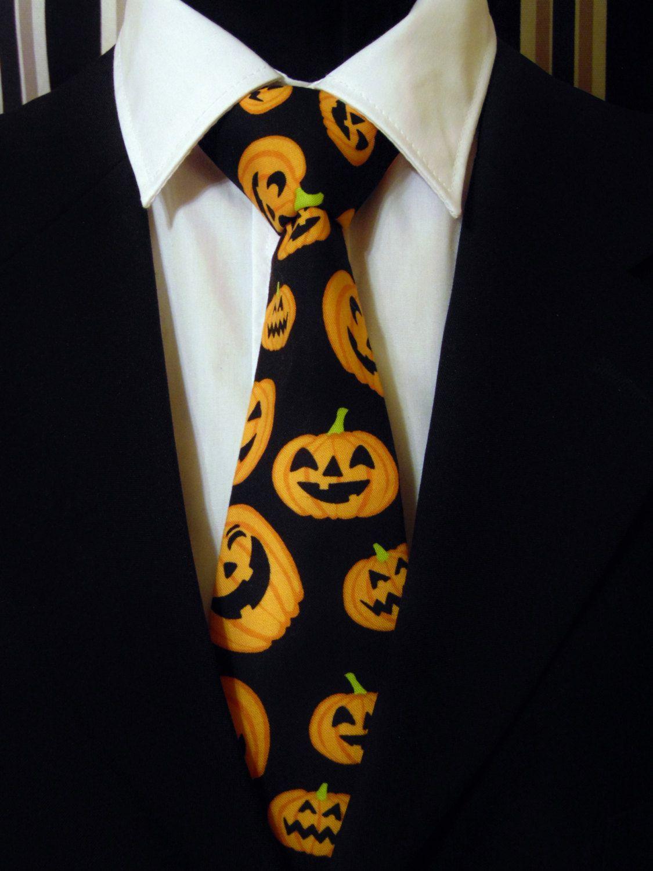 74fdc9381fd2 Halloween Necktie, Halloween Tie, Pumpkin Necktie, Pumpkin Tie, Mens Necktie,  Mens Tie, Black Necktie, Black Tie, Orange Necktie, Orange Tie by  EdsNeckties ...