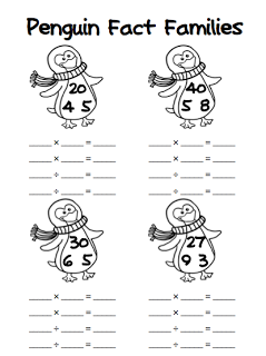 FREE} Penguin Fact Families: Addition/Subtraction & Multiplication ...