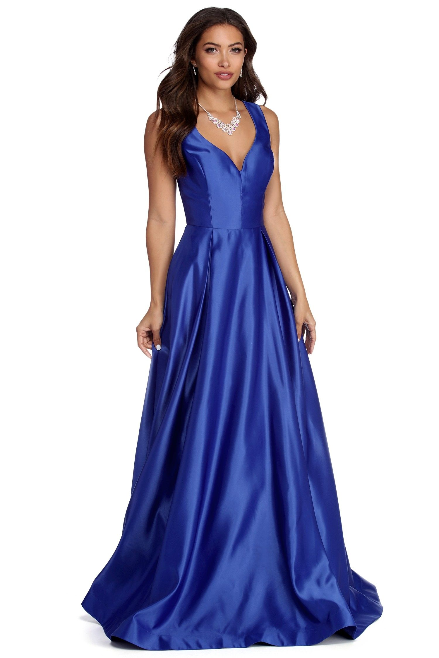 5439afde494e Nadia Satin Ball Gown Dress in 2019   Prom 2020   Ball gown dresses ...