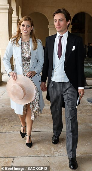 Princess Beatrice and her fiancé attend historic wedding