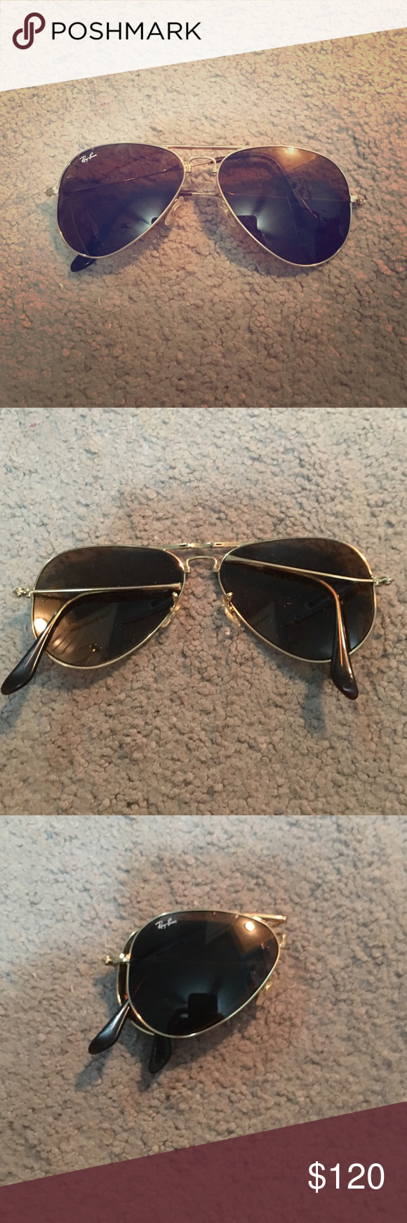 Ray Ban aviators, foldable RAYBAN AVIATORS , foldable to fit in your ...