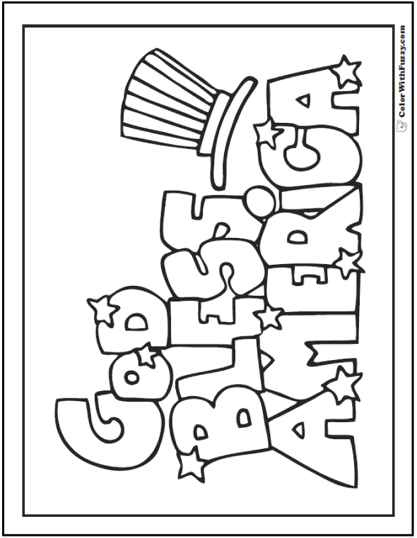 Fourth Of July Coloring Pages: Print And Customize | Sunday school ...