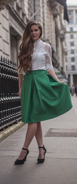 midi skirt. wear with sandals in summer or tights and a long ...