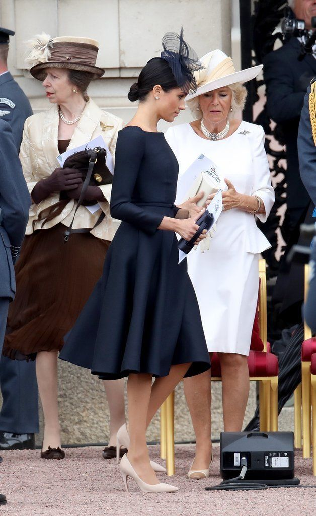 Princess Ann, Meghan, Duchess of Sussex & her mother-in-law Camilla Parker  Bowles, Duchess of Cornwall | Meghan markle style, Royal fashion, Meghan  markle