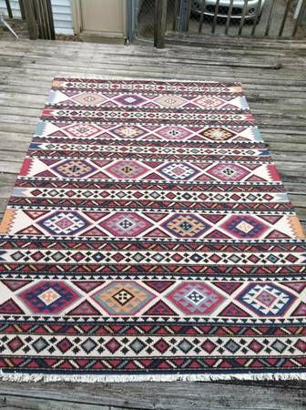 Beautiful kilim 6x9 rug mainly mcm art light textile for Living room rugs 6x9