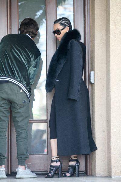 Kim Kardashian Photos Photos - Kim Kardashian is seen out and about wearing all black on February 19, 2016. - Kim Kardashian Wears All Black