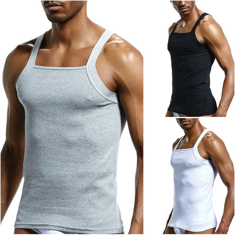 ab9887759f524  5.95 - Mens G-Unit Style Square Cut Undershirt Underwear Tank Top Wife  Beater Xl L M  ebay  Fashion
