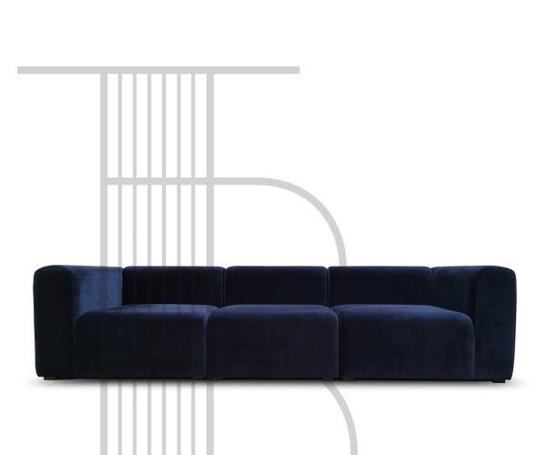 sofa velour 3 pers HAY Mags Sofa (3 Pers.) Harald Velour Stof | Home in 2018  sofa velour 3 pers