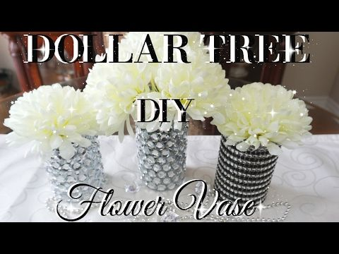 Diy Dollar Tree Bling Flower Vases Decor Petalisbless Youtube