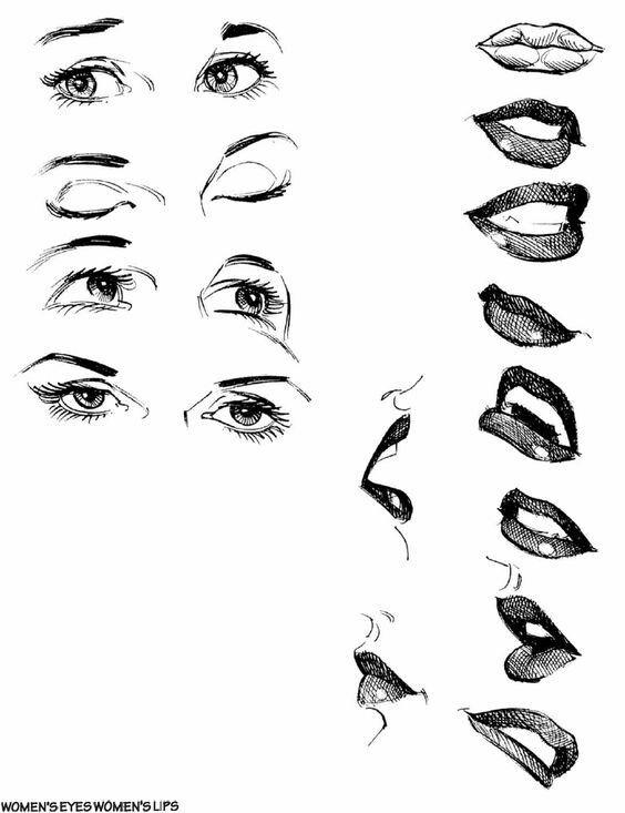 Pin De Nicolás Mendoza En как рисовать рот Como Dibujar Labios Dibujos De Labios Dibujos De Ojos