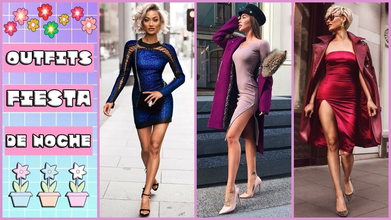 Vestidos de moda para noche 2018