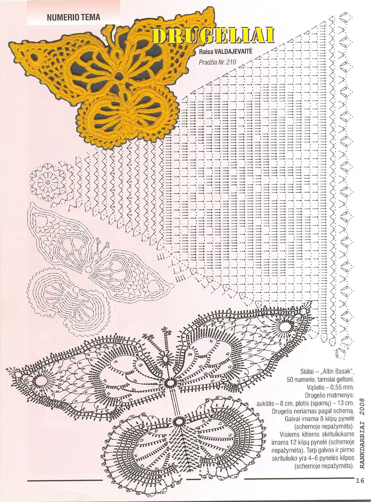 mariposa ganchillo patron - Buscar con Google | crochet animals ...
