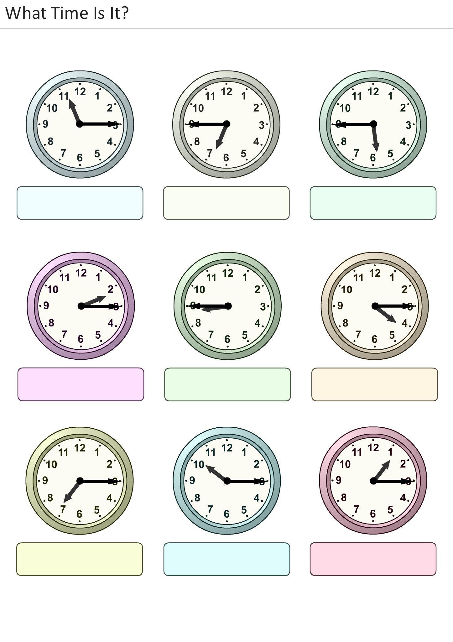 Worksheets La Hora Worksheet actividades para preescolar primaria e inicial plantillas con relojes analogicos aprender la
