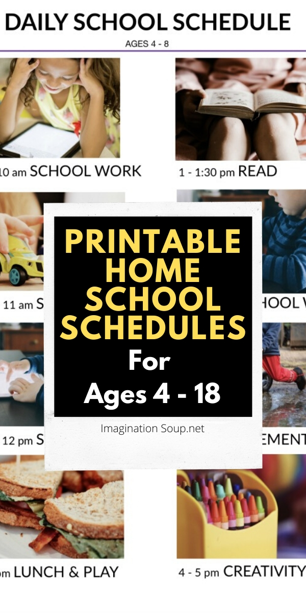 Photo of Printable Home School Schedules for Kids in PreK – High School