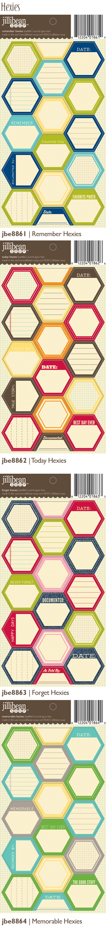 Love the hexagon label stickers from Jillibean Soup! #StudioCalicoPinToWin