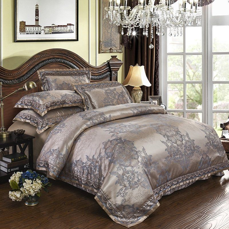 Champagne Gold and Gray Indian Inspired Neoclassical Style
