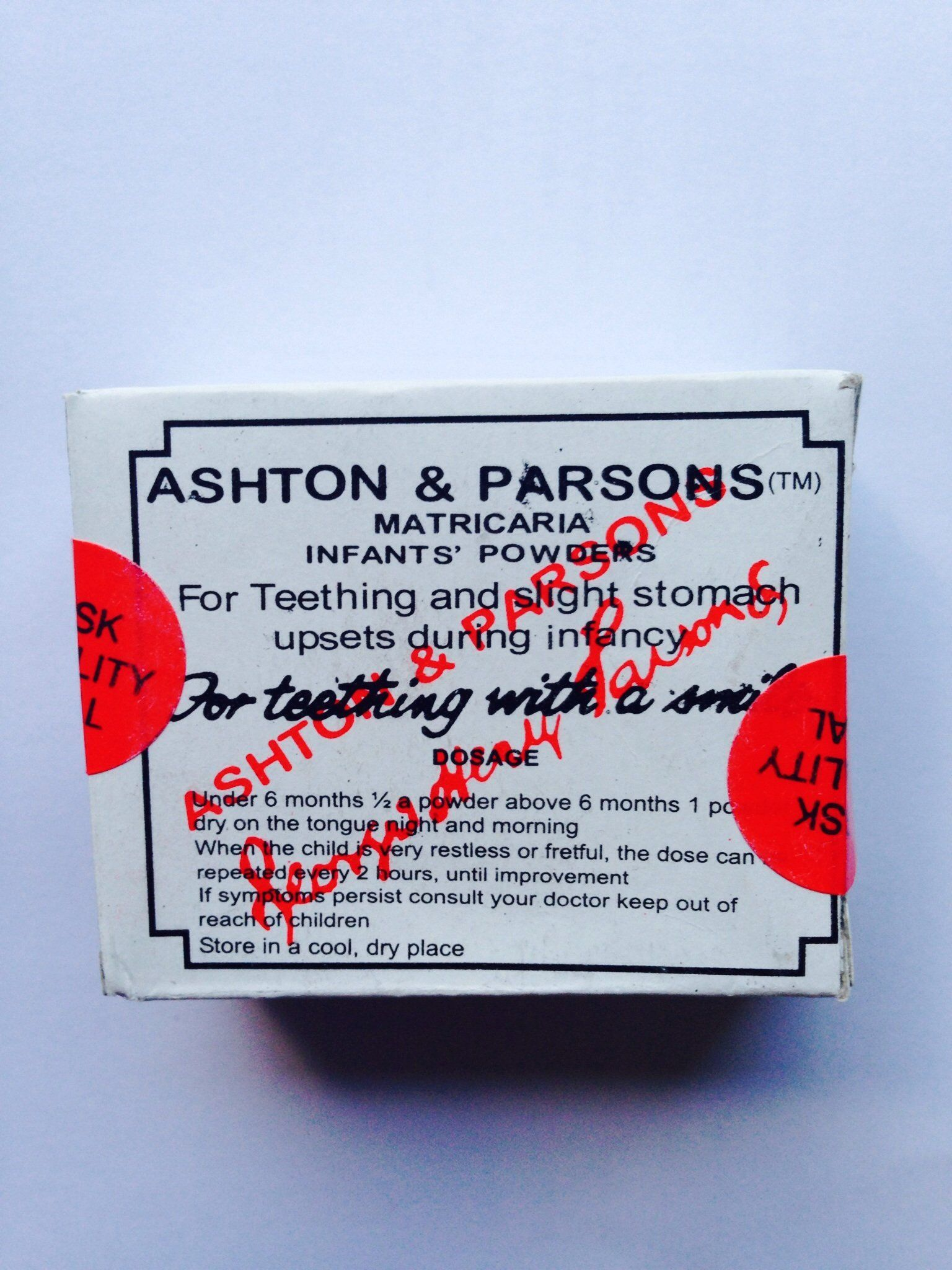 Ashton And Parsons Infant Powders For Teething 20: Amazon.co.uk: Health & Personal Care
