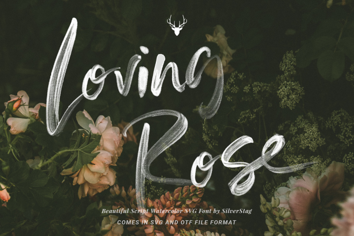 Download Loving Rose SVG Watercolor Font Pack - Hand Drawn Font ...