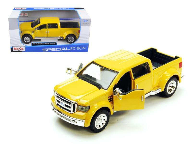 Ford Mighty F-350 Pick Up Truck Yellow 1/31 Diecast Model by Maisto
