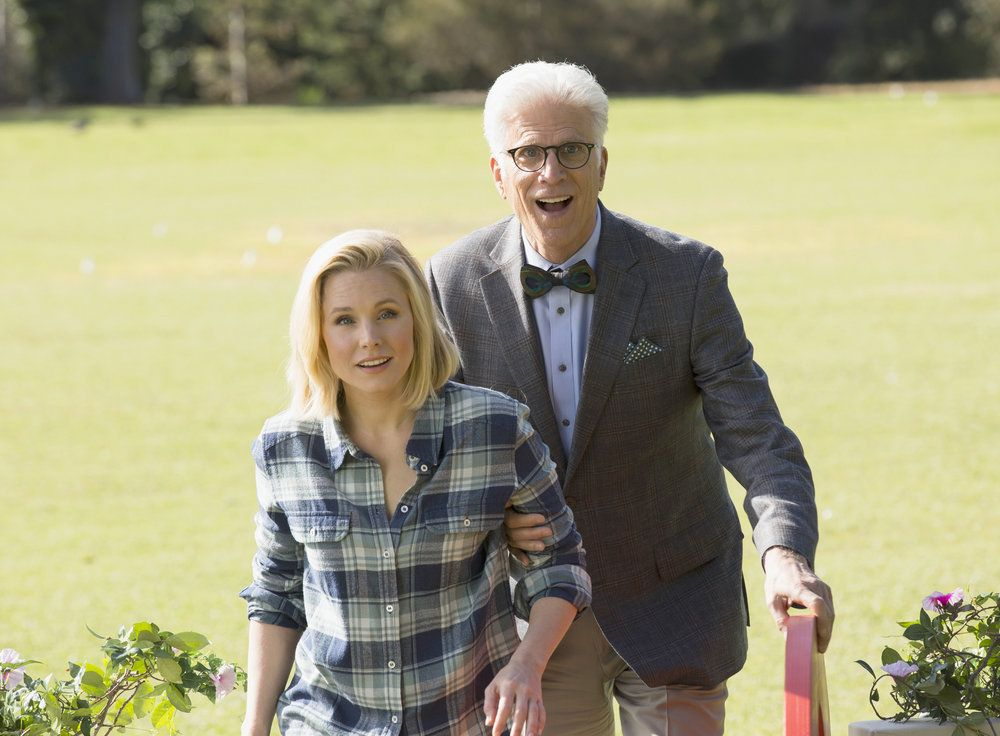 NBC has released the first photos from their new sitcom The Good Place. It stars Ted Danson and Kristen Bell. What do you think? Will you watch?