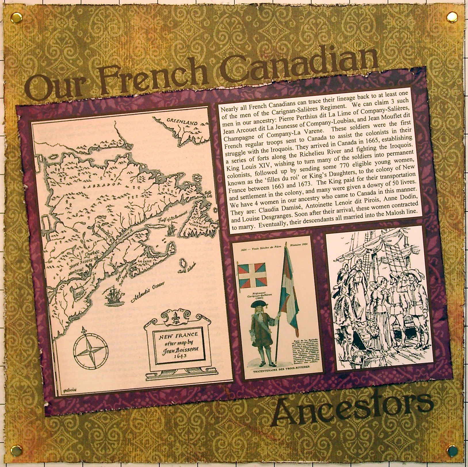 How to scrapbook your family tree - Our French Canadian Ancestors Scrapbook Com Canadian Thingsheritage Scrapbookingfamily Treeso