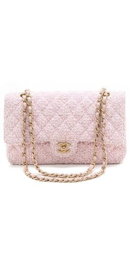 What Goes Around Comes Around Chanel Boucle 2 55 Bag Shopbop Chanel Bag Pink Chanel Chanel Clutch