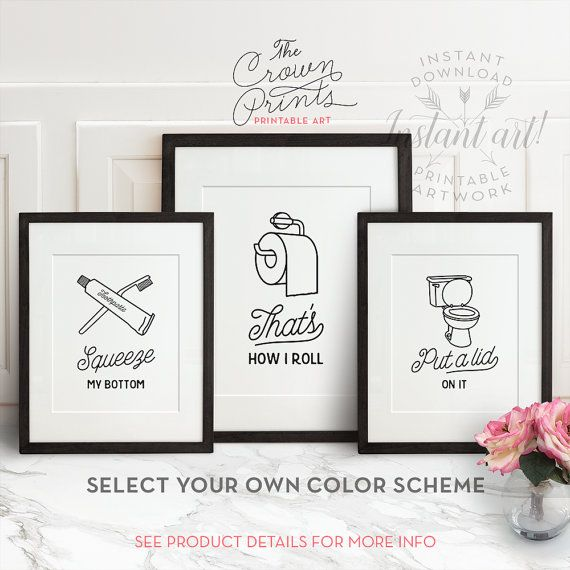 Hey, I Found This Really Awesome Etsy Listing At  Https://www.etsy.com/listing/255429603/funny Bathroom Art Set Of 3 Printable