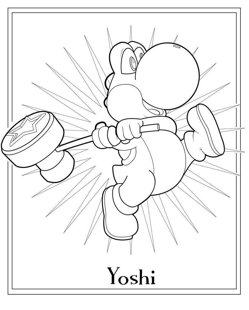Coloring Pages Yoshi Coloring Pages Coloring Pages To Print