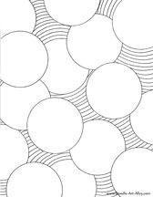 Geometric Coloring Pages Adult Circles Page