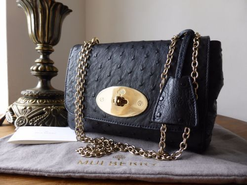 low cost mulberry lily bag ecfc3 34d81  spain mulberry lily in navy ostrich  leather f231e 451d1 6760c210dc5a1