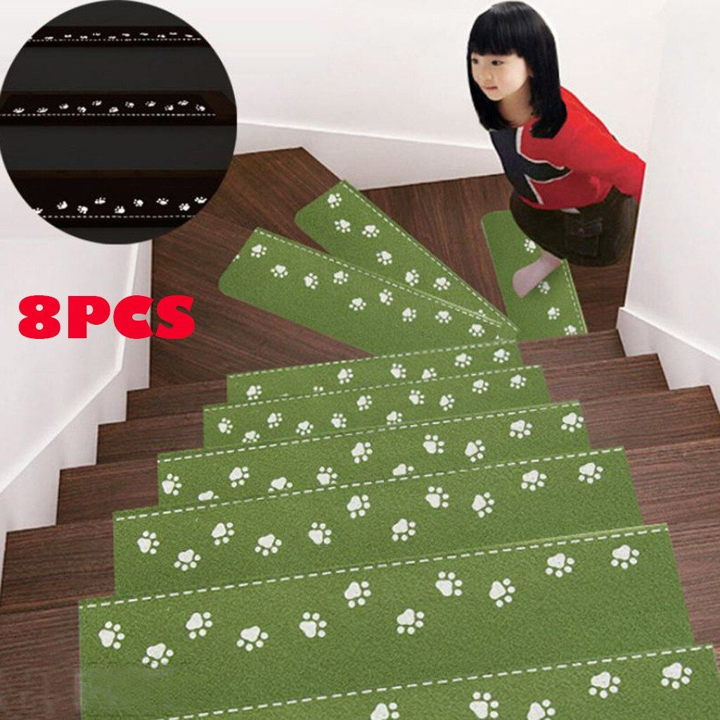 Best 8Pcs Self Adhesive Stair Carpet Mat Step Staircase Non 400 x 300