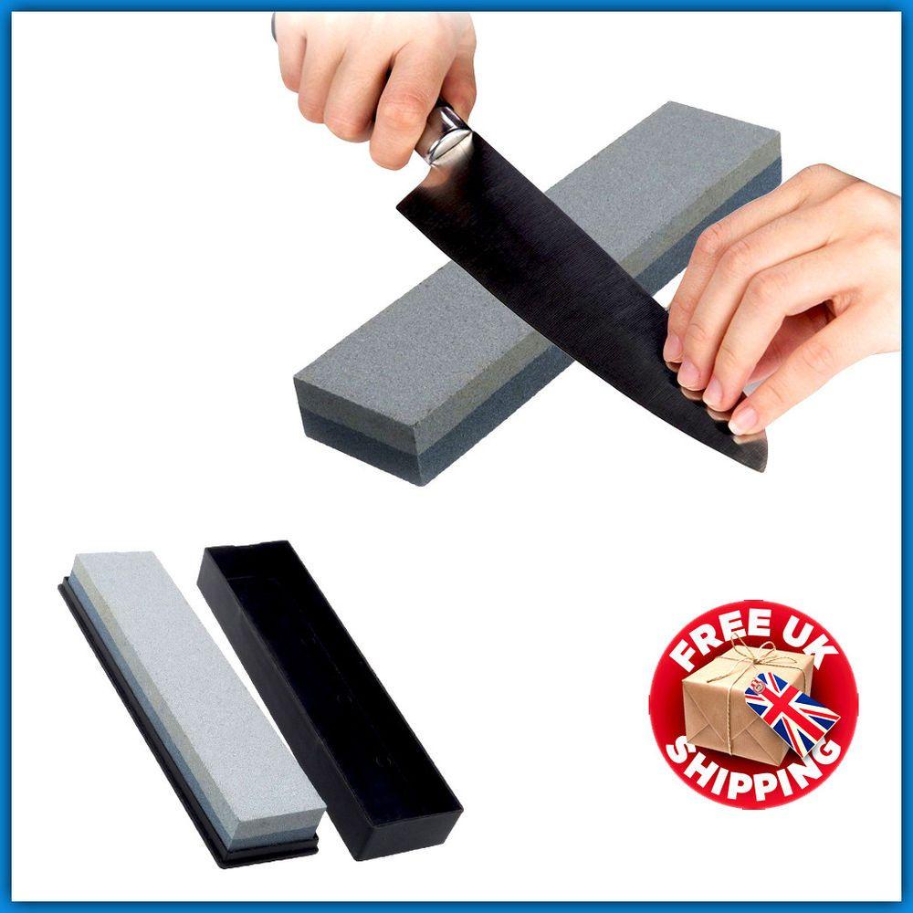 Chef knife sharpener wet oil stone double sided whetstone