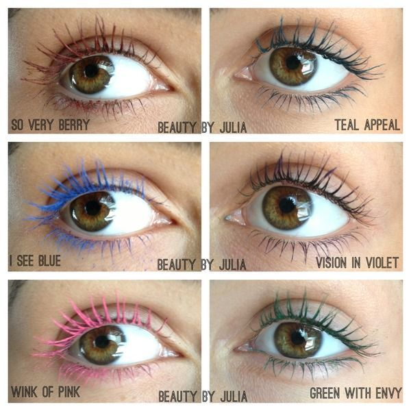 37aa21a263c NEW Maybelline Colored Mascara - great idea but oh s disappointing - you  need to put on like 5 or more coat of this mascara to get the color to look  like ...