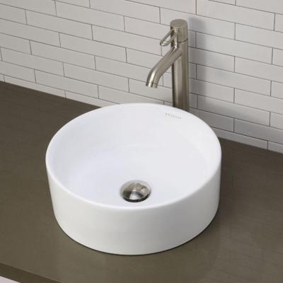 Decolav Classically Redefined Semi Recessed Round Bathroom Sink In
