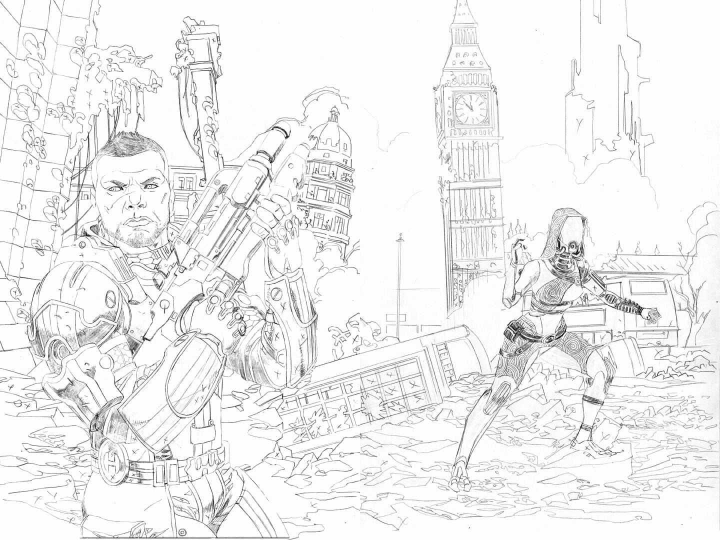 Mass Effect Coloring Book Luxury Mike Hawthorne Mass Effect Homeworlds 2 Cover Process King Coloring Book Owl Coloring Pages Power Rangers Coloring Pages