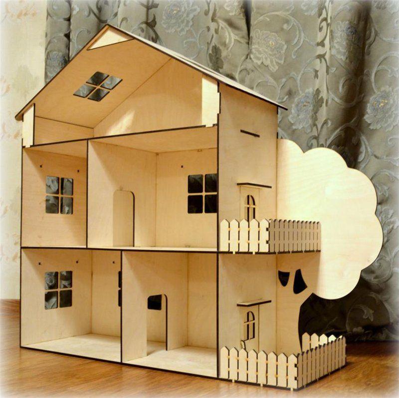 Кукольный домик из дерева своими руками картинки