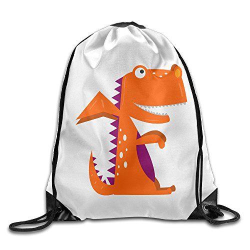 2a6c51769c02 Jimres Dinosaur Drawstring Bags Portable Backpack Pocket Bag Travel Sport Gym  Bag Yoga Runner Daypack
