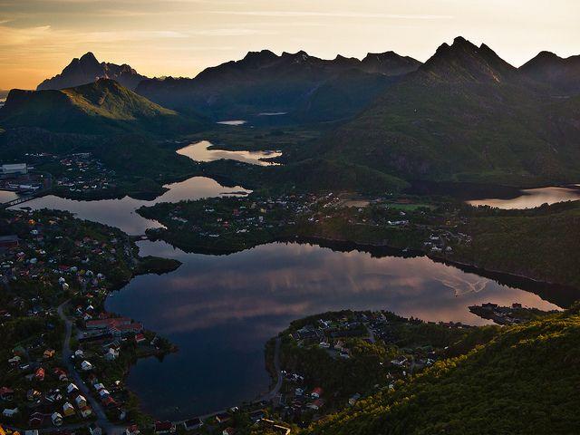 Parts of Svolvaer, Lofoten Islands, Norway