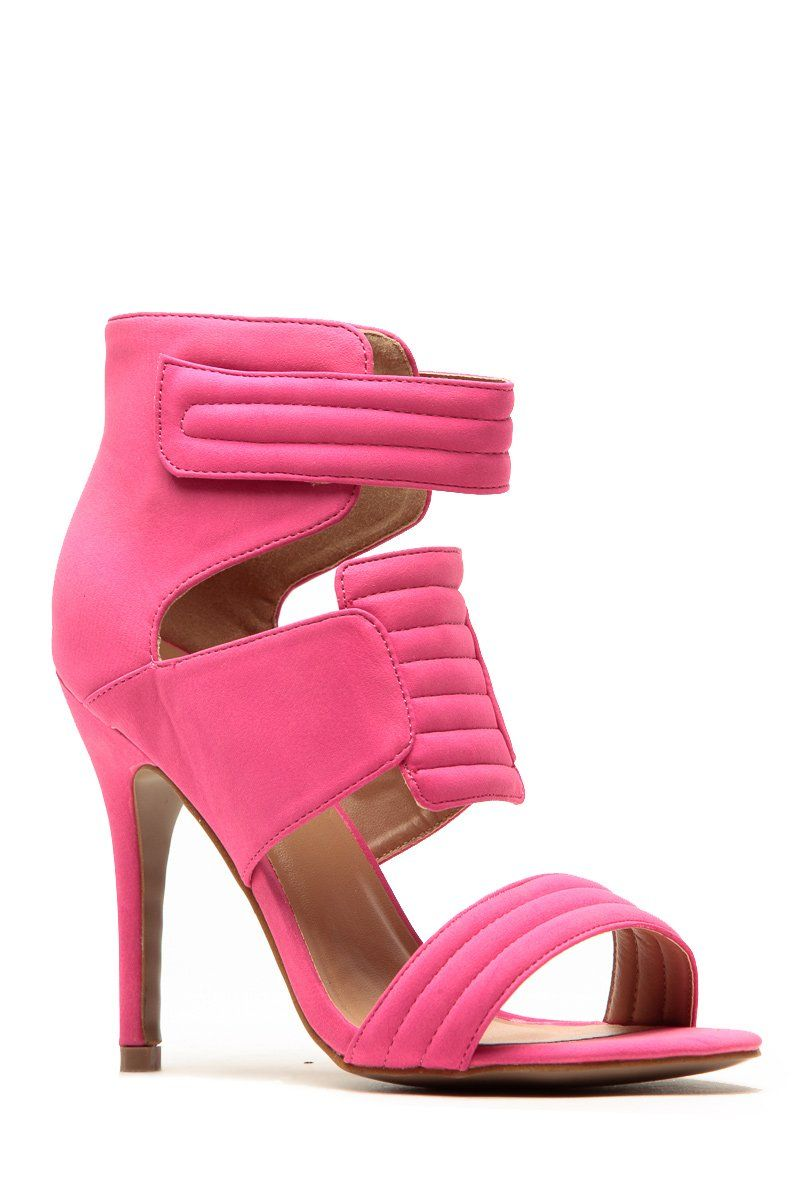 9237e69e71f3 Glaze Hot Pink Quilted Single Sole Heels  39