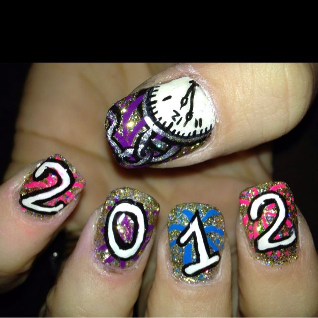Happy New Year nails