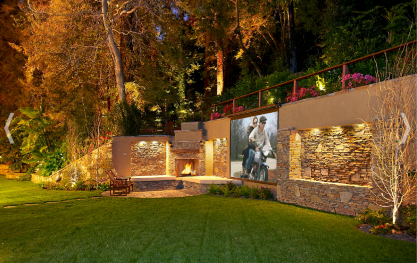 outdoor theatre on the retaining wall Outdoor theater