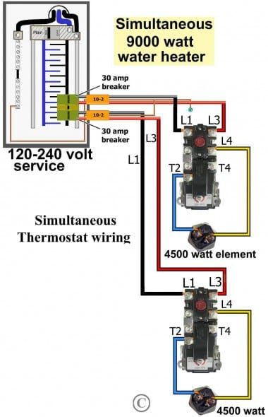 Water Heater Wiring Diagram Dual Element