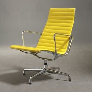 Yellow HM Aluminum Group Lounge / Eames
