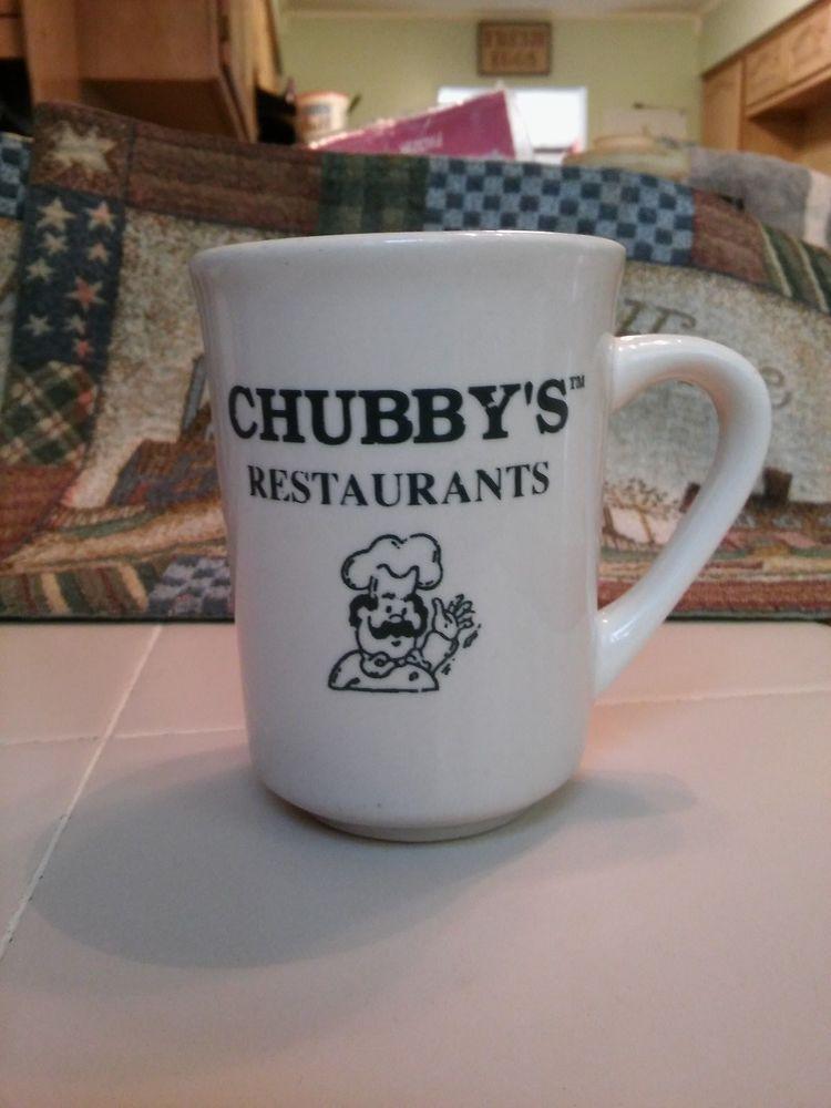 Coffee Mug Chubby's Restaurants Dallas Texas Collectible Libertyware White EUC…
