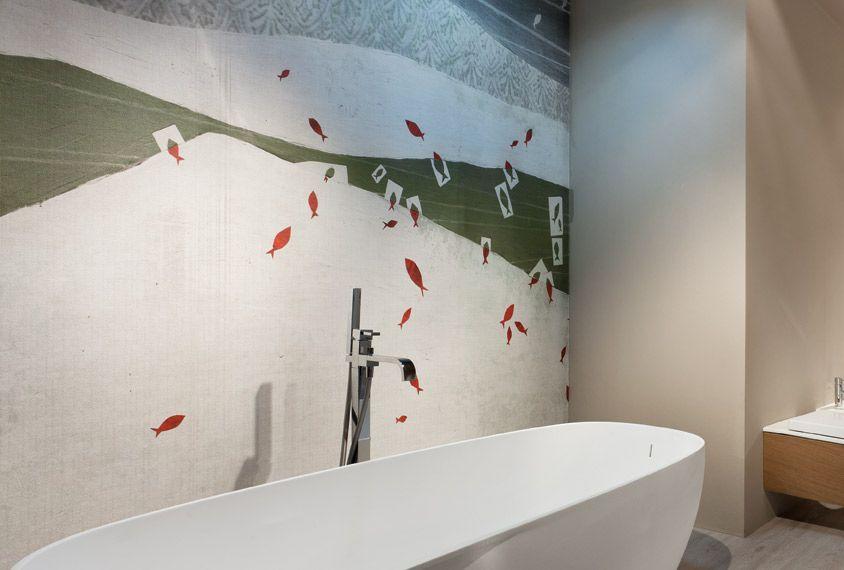 Rivestimenti da bagno by Edoné Design - Texture pesci | Bagni belli ...