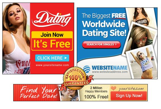 Dating banner ontwerp