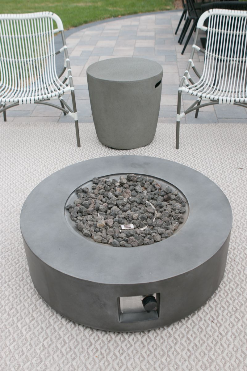 How To Hide A Propane Tank From Your Patio S Fire Pit The Diy Playbook Fire Pit Essentials Modern Fire Pit Fire Pit
